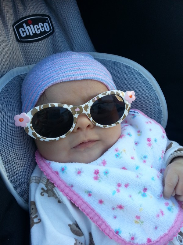 Looking too cool for school on one of her walks
