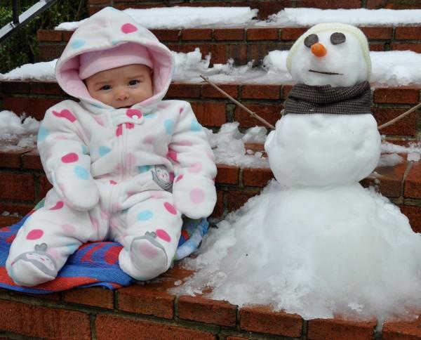 Her first snowman!