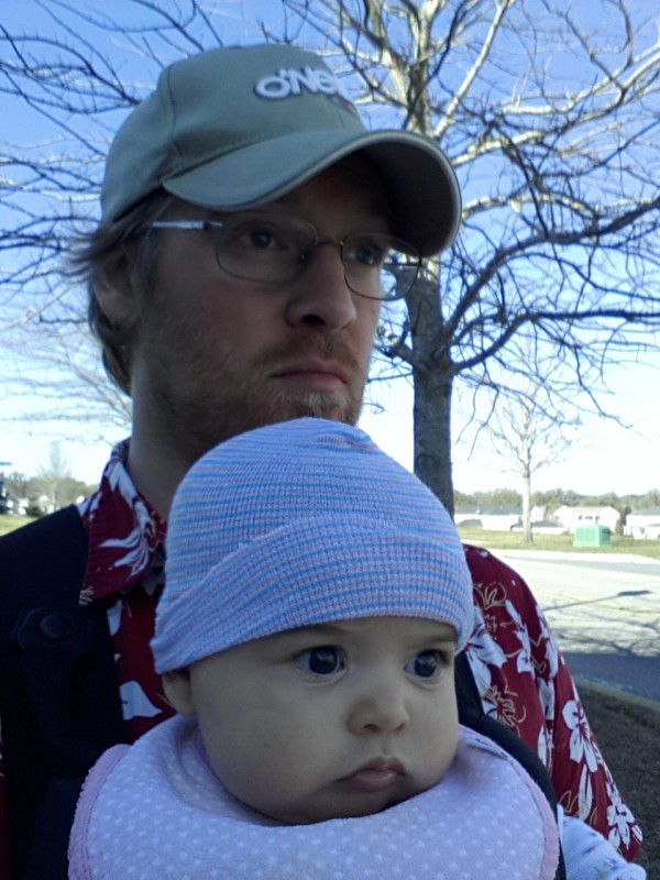 Even at 5 months, our walks can become quite contemplative