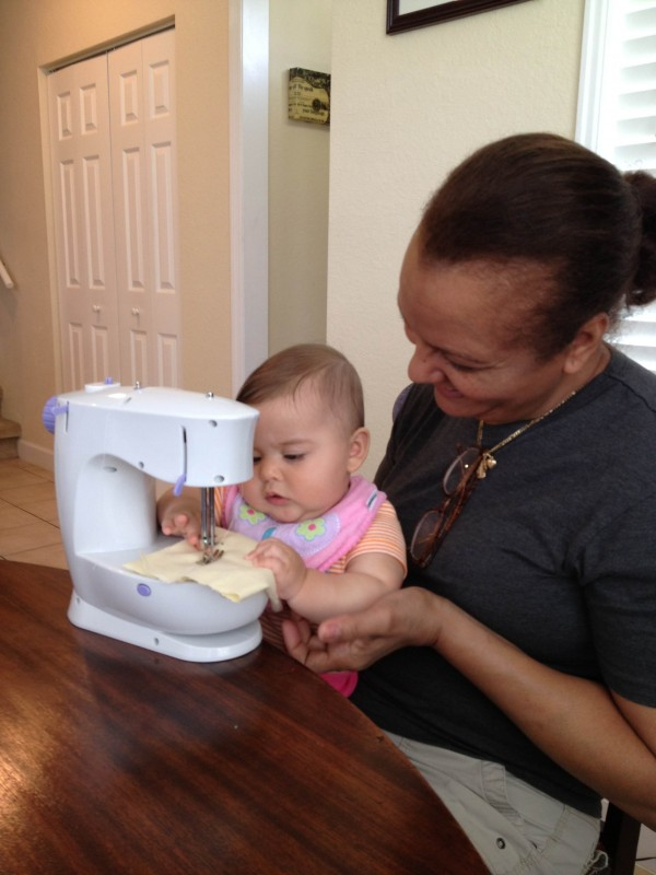 Learning to sew with Abuela