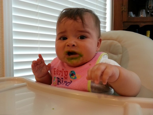Someone wasn't a fan of peas the first time they tried them.