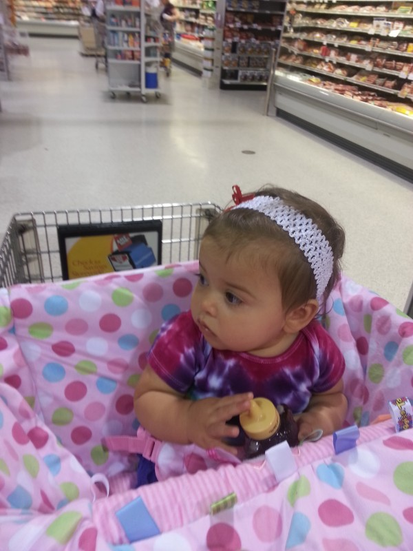 Grocery shopping with my little hippie