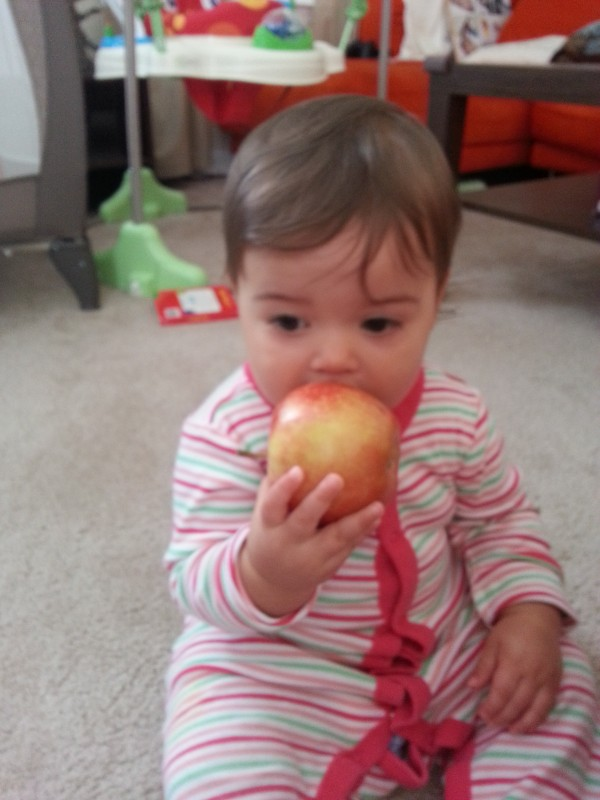 """Don't mind me. I'm just going to contemplate life while I eat this apple"""