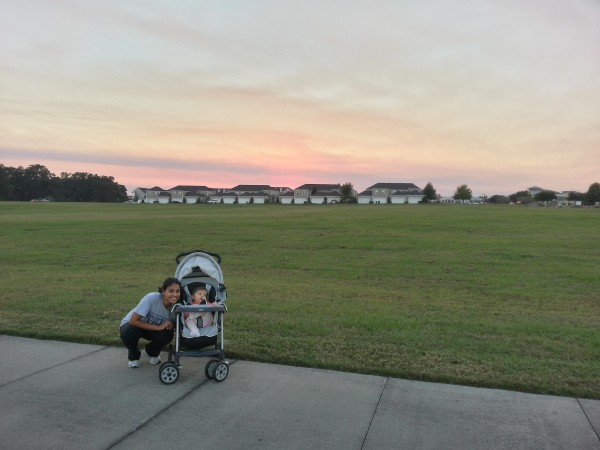 Beautiful sunset walk with my girls