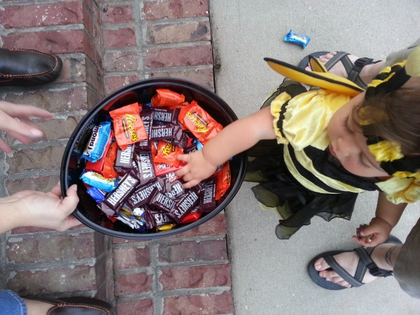 Getting the hang of the candy bowl thing