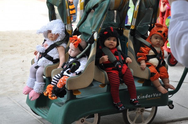 Halloween Parade at daycare